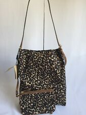 NWT BURBERRY handbag Canvas Maguire Cross body Shoulder Bag Leopard $695