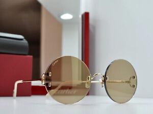 New 020 CARTIER decor C gold Rimless CT0153S Sunglasses Lunette Brille Occhiali