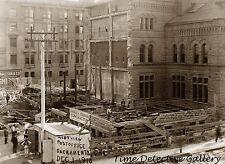 Construction of Post Office, 7th & K Sts., Sacramento 1910 Historic Photo Print