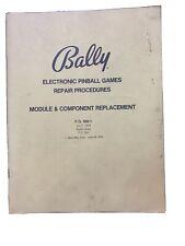 Bally Electronic Pinball Games Repair Procedures Module Replacement 1978