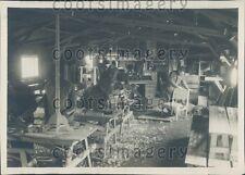 Carpenter Shop Scene US Army Post School France Press Photo