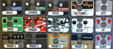GIGWRX Pedal/Amp Magnetic Labels For VooDoo Lab Ground Control Pro
