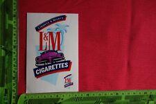 Alter Aufkleber Tabak Zigaretten L&M Cigarettes Liggett & Myers