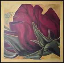 Heidi Gerstner Red Roses Poster Art Print Picture in Aluminium Frame Black 70x70cm