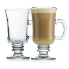 Set Of Clear Glass 230ml Irish Coffee Glasses Latte Mugs Hot Chocolate Cups New