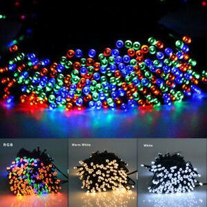 50 LED Solar Powered String Fairy Lights Outdoor Garden Wedding  Party Xmas Home