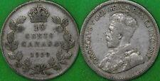 1929 Canada Silver Dime Graded as Fine