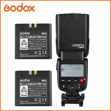 Godox V860N I-TTL Speedlite Camera Flash for Nikon D7100 D7200 Two VB18 Battery