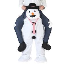 Carry Me Piggy Back Ride On Snowman Mascot Fancy Dress Costume Christmas gift