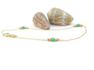 14K Gold filled opal anklet bracelet