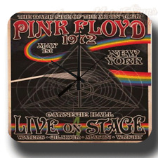 PINK FLOYD 1972 CONCERT  VINTAGE RETRO  METAL TIN SIGN WALL CLOCK