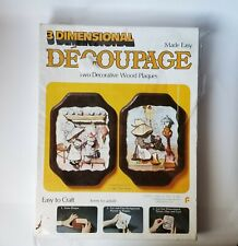 3-Dimensional Made Easy Decoupage - Two Decorative Wood Plaques Vintage 1973