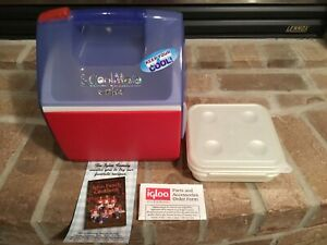 Vintage IGLOO Mini Cooler S'CoolMate Cooler w/orig Sandwich Container *BRAND NEW