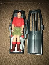Jurassic Park 1996 Survival Pod Capsule Figure Man in Cage from Bull T-Rex Set