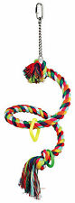 Trixie Spiral Rope Perch - Small Parrot  Bird Toy For Cages Or Aviary 5164