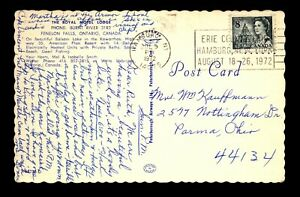 1972 Hamburg NY Illegal Use of Canadian Stamp as Postage - L30330