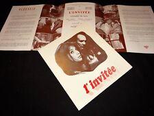 L' INVITEE m piccoli  Joanna Shimkus scenario dossier presse cinema 1969