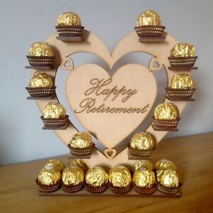 Happy Retirement  Chocolate Display Stand