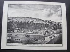 Vtg 1975 WHITNEY POINT NY Ltd Ed Set Of Prints Maps Broome County Rotary Club