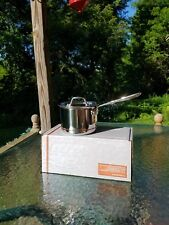 ALL CLAD copper core 2qt quart SAUCE PAN with LID 1st MADE IN AMERICA nib