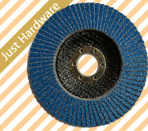 "30 PCS Abrasive 4"" 100mm Zirconia FLAP DISCS WHEELS ANGLE grip 80 grit"