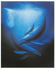 """WYLAND """"ART OF SAVING WHALES""""  S/N LITHOGRAPH WITH COA"""