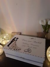 handmade personalised wedding memory/keepsake box