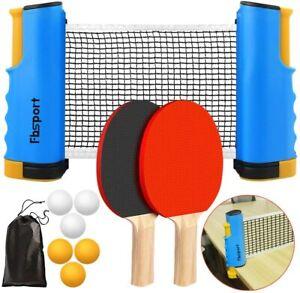 Table Tennis Game Kit Portable Indoor Retractable Net 2 Bats 3 Ping Pong Balls