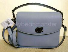 COACH 88346 Cassie Leather Crossbody Shoulder Bag Purse Crossbody Bluebell Blue
