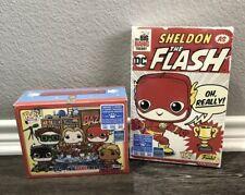 BAZINGA & Sheldon As The Flash T-shirts Big Bang Theory Funko 2019 SDCC XL