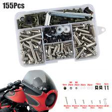 155Pcs/Set Universal Motorcycle Shell Fairing Bolt Plate Screws Nut Thread Kit