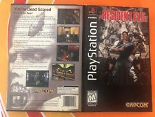 Resident Evil (Sony PlayStation 1, 1996) Long Box game complete