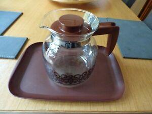 Glass Coffee Jug with tray