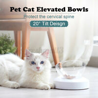 Elevated Pet Cat Dog Water Bowl Food Water Bowl With Stand Detachable