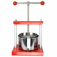 0.53 Gal Fruit Wine Press 100% Natural Juice Making Stainless Steel Apple Cider