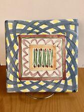 """Mackenzie Childs Aalsmeer Tile Trivet 8""""'x 8"""". Excellent."""