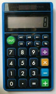 Solar Power 8-Digit Calculator Blue Case with Multicolored Operation Keys