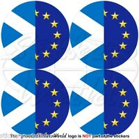 EUROPE European Union-Scotland Flag Roundels Scottish 50mm Stickers Decals x4
