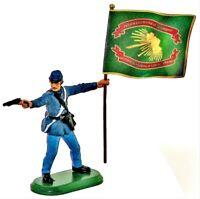 BRITAINS SUPER DEETAIL Civil War Union IRISH BRIGADE Flag Bearer Painted NEW MIP