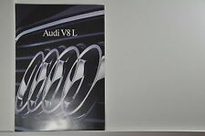 schöner Audi V8 L Prospekt 09/1990