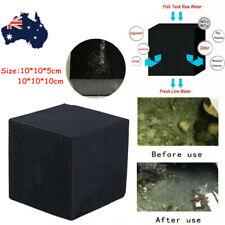 Eco-Aquarium Water Purifier Cube Aquarium Cleaner Carbon Filter For Fish Tank AU