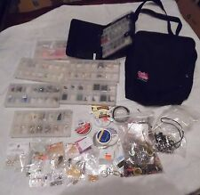 Large Lot of Craft / Jewelry Making Supplies - Beads, Charms, Bags