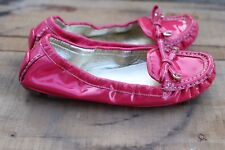 Authentic Womens Coach Isabelle Driver Flats Pink Patent Leather Size 7