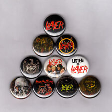 """SLAYER 1"""" PINS / BUTTONS (reign in blood hell awaits patch vest shirt vintage lp"""