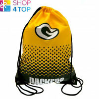 GREEN BAY PACKERS DRAWSTRING GYM BAG YELLOW AMERICAN FOOTBALL NFL OFFICIAL NEW
