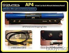 aP2T - Wireless Microphone Antenna Panel 1u 2xTNC -TNC cable Beyer GTD EV Telex