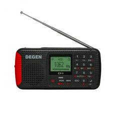 DEGEN CY-1 Solar Radio Bluetooth FM MW SW Hand Crank Emergency Recorder Receiver