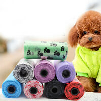1/5 Roll Degradable Pet Waste Picking Poop Bags Dog Cat Clean Refill Garbage Bag