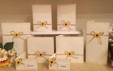 10 x Sunflower Handmade Wedding Invitations Stationery Rustic