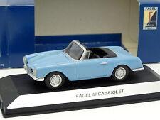 Starter N7 Provence Résine 1/43 - Facel III Cabriolet Bleue